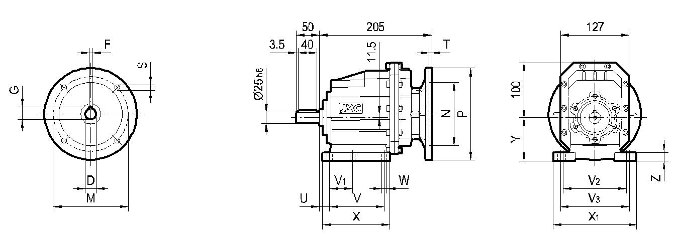 редуктор TRC 02 на лапах