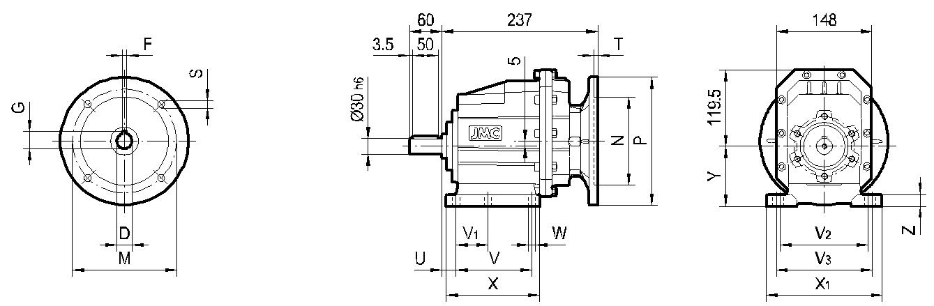 редуктор TRC 03 на лапах