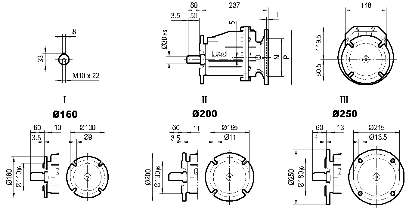редуктор TRC 03 фланцевый