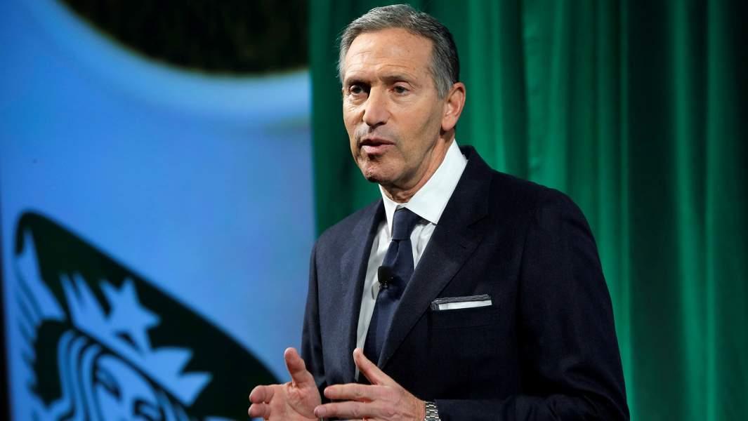 Выступление председателя и главного исполнительного директора StarbucksГоварда Шульца в День инвестора в Манхэттене, Нью-Йорк