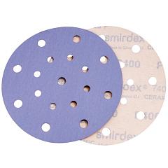 P80 150мм SMIRDEX Ceramic Velcro Discs 740 Абразивный круг, с 17 отверстиями