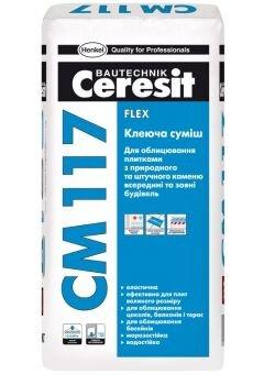 Клеящая смесь CERESIT CM 117 Flex, мешок 25 кг - фото pic_34bff67df61cc18_700x3000_1.jpg