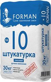 Штукатурка гипсовая ручного нанесения Forman №10, мешок 30 кг - фото pic_afe0b618f6df9a4_700x3000_1.jpg