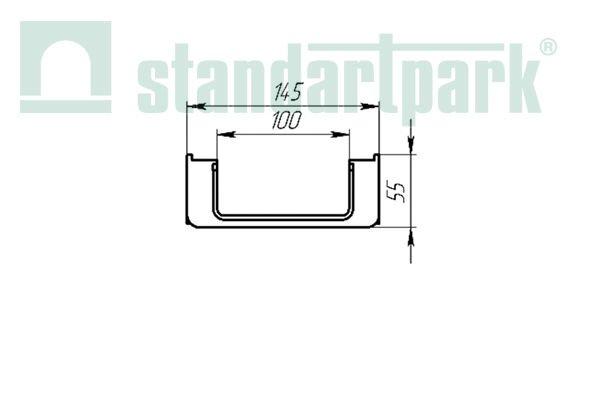 Лоток водоотводный PolyMax Basic ЛВ-10.15.06-ПП пластиковый 8050 - фото pic_2dbac0133b8e5f7_700x3000_1.jpg