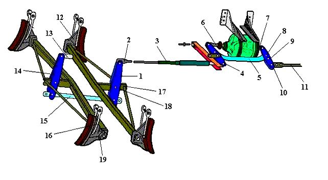 Головка тяги тормозной рычажной передачи вагонов 5722-07.03.03.002-ПФ1 - фото ТРП грузового вагона