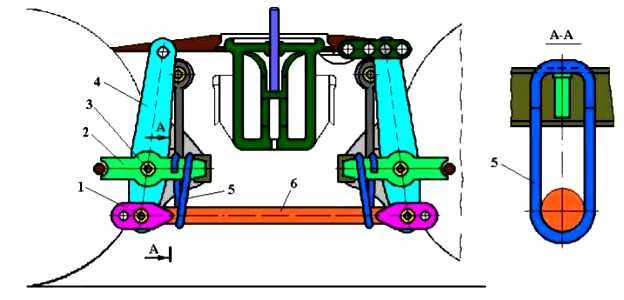 Головка тяги тормозной рычажной передачи вагонов 5756-08.02.05.101-ПФ1 - фото отводящее устройство
