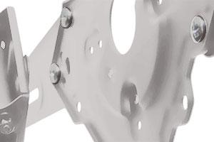 """Кронштейн TUAREX ALTA-24 (max 55"""" 45kg), 22"""" -65"""", до 45 кг, белый - фото plastina-w.jpg"""