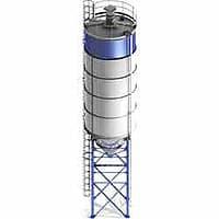 Кирпичный завод QTY10-15 - фото силос цемента 100 тонн