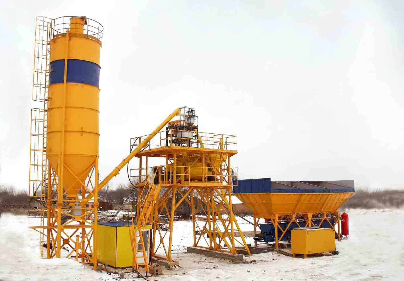 Бетонный завод HZS 25 (25 м3/ч) - фото HZS 25