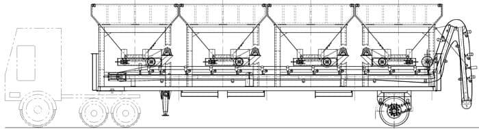 Мобильный асфальтобетонный завод YLB 800 (64т/ч) - фото 2