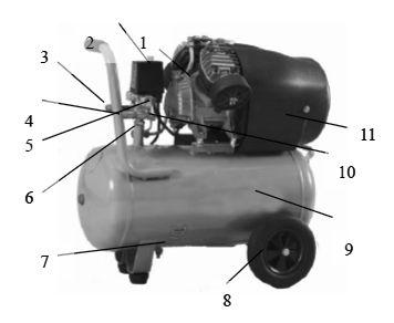 Компрессор Aurora GALE-50 - фото Основные компоненты компрессора Aurora Gale-50