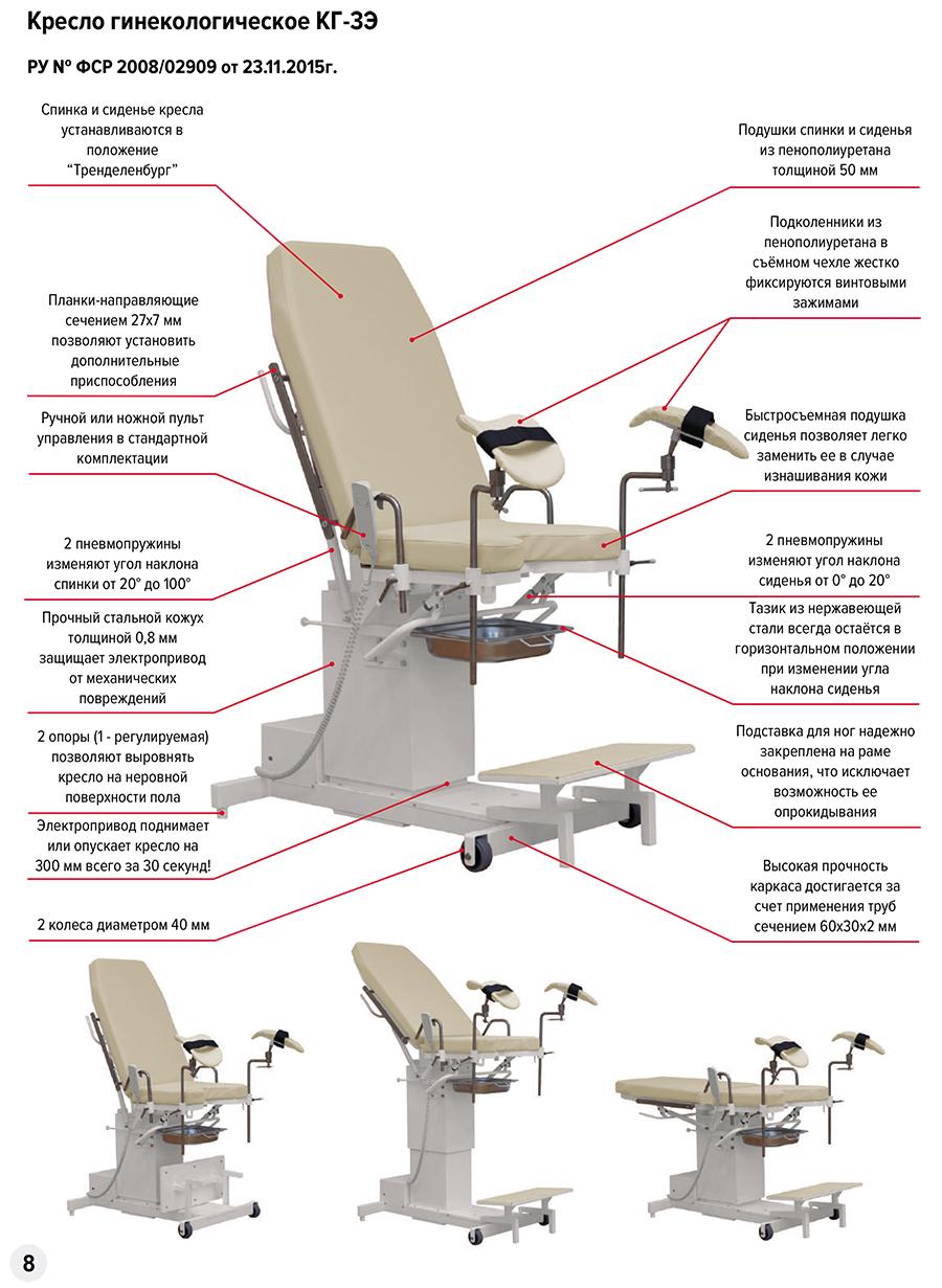 Кресло гинекологическое КГ-3Э - фото %D0%9A%D0%93-3%D0%AD.jpg