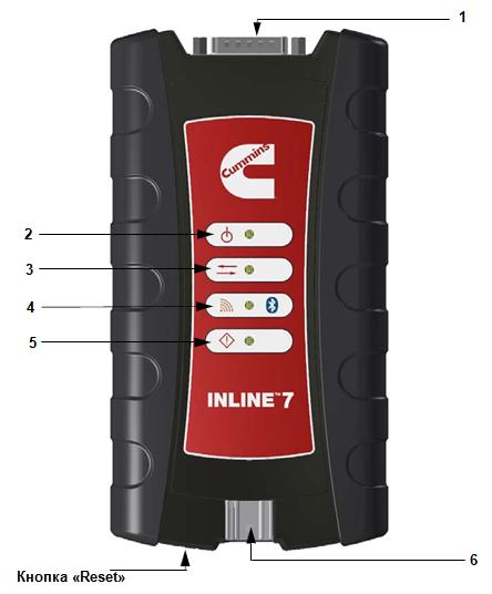 Дилерский диагностический сканер OEM Cummins Inline 7 (оригинал) - фото Cummins Inline 7 (OEM)