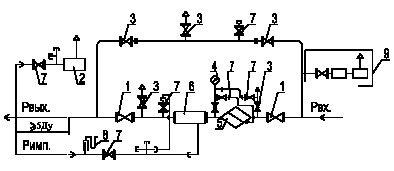 Газорегуляторные пункты с 1-2 линиями редуцирования и байпасом - фото shemagrpsh400.jpg