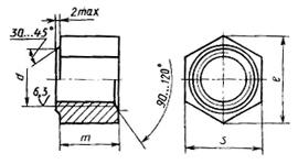 Стыковая гайка ж/д Г11532 М24 35 2 7H МКР-1 - фото Гайка стыковая ж/д ГОСТ 11532-93