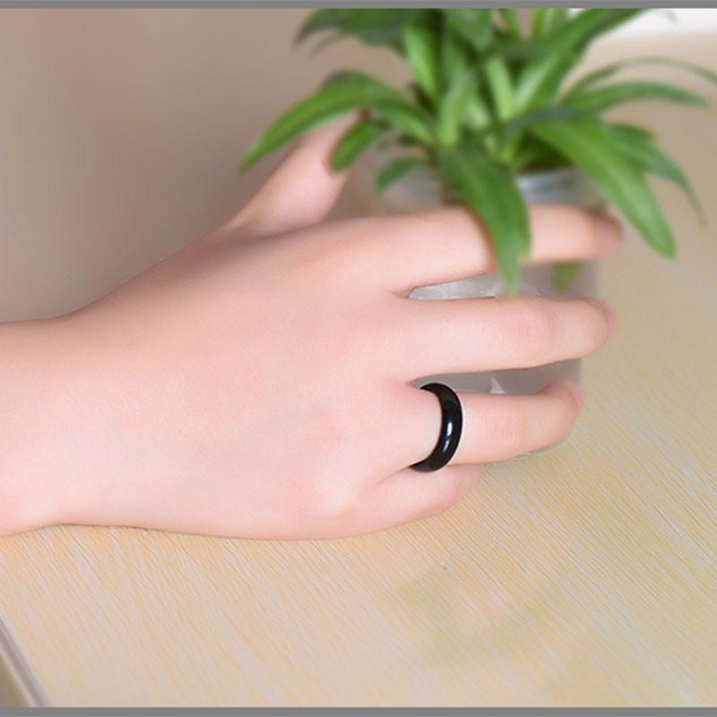 Кольцо Черный агат - фото 1