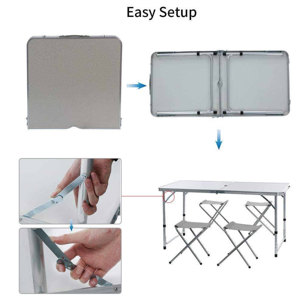 Стол складной, 4 стула цвет светлый или темный длина 120см ширина 60см высота 55см - фото HTB1l7oYaqWs3KVjSZFxq6yWUXXam.jpg