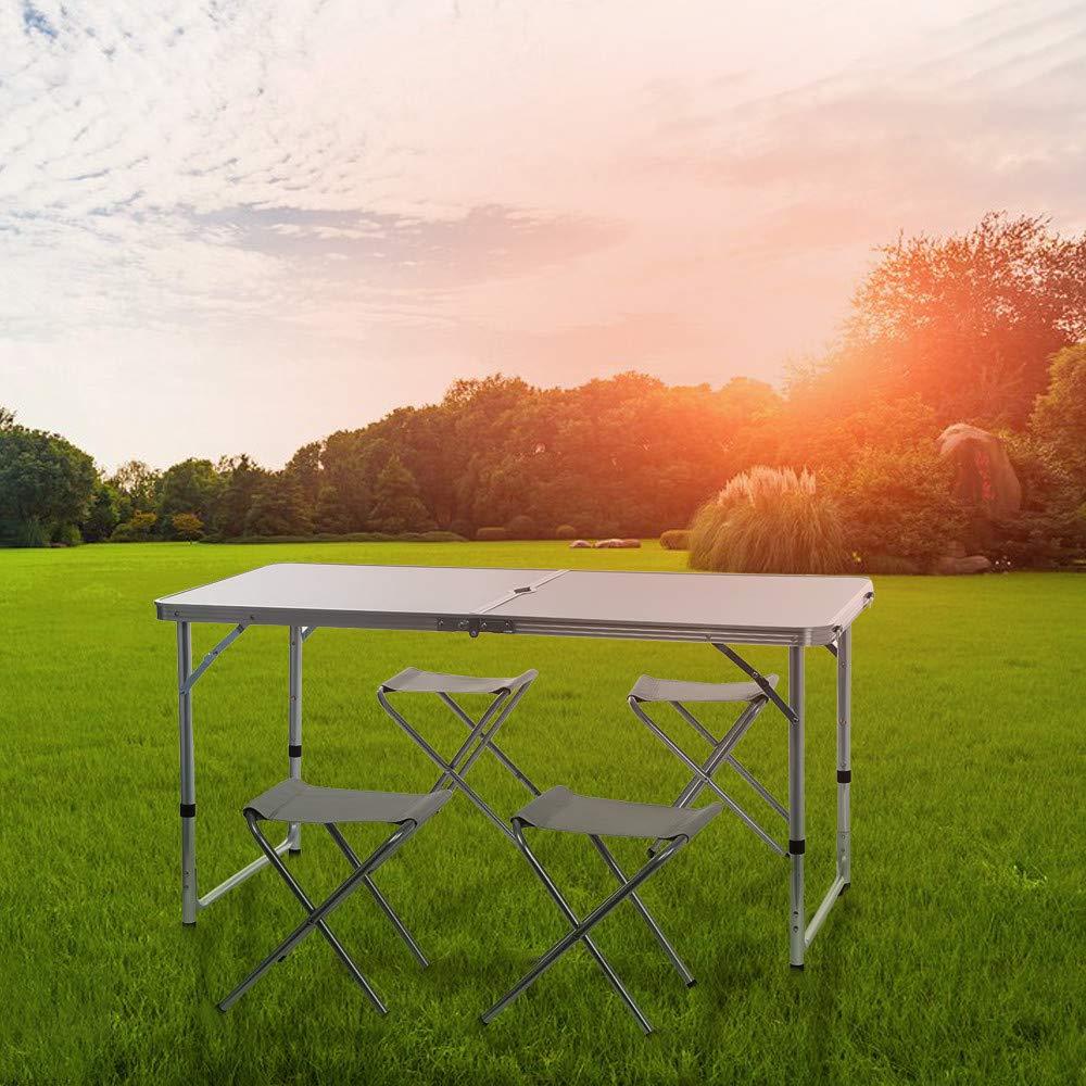 Стол складной, 4 стула цвет светлый или темный длина 120см ширина 60см высота 55см - фото HTB1CncOaEKF3KVjSZFEq6xExFXaP.jpg