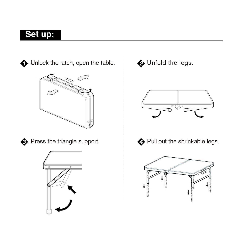 Стол складной, 4 стула цвет светлый или темный длина 120см ширина 60см высота 55см - фото HTB1fQUOaEKF3KVjSZFEq6xExFXa6.jpg