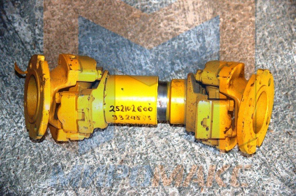 252102600, Вал карданный задний XCMG ZL50G (L=400 мм.,крулый фланец 6 отв.)