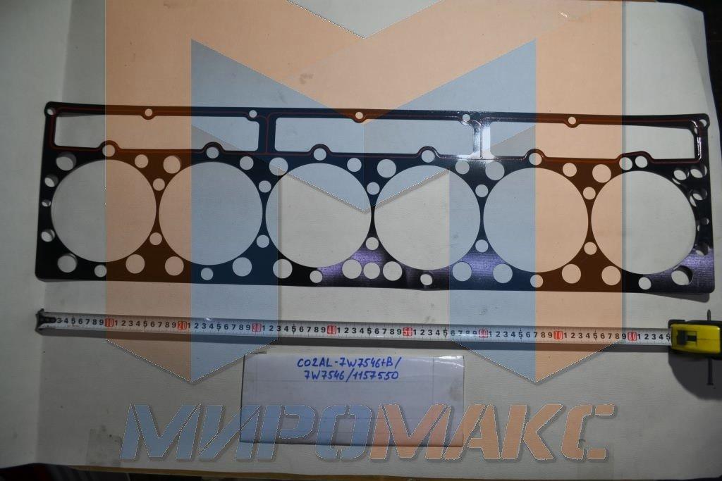 C02AL-7W7546+B, Прокладка ГБЦ (под плиту, тонкая, металл) Shanghai C6121