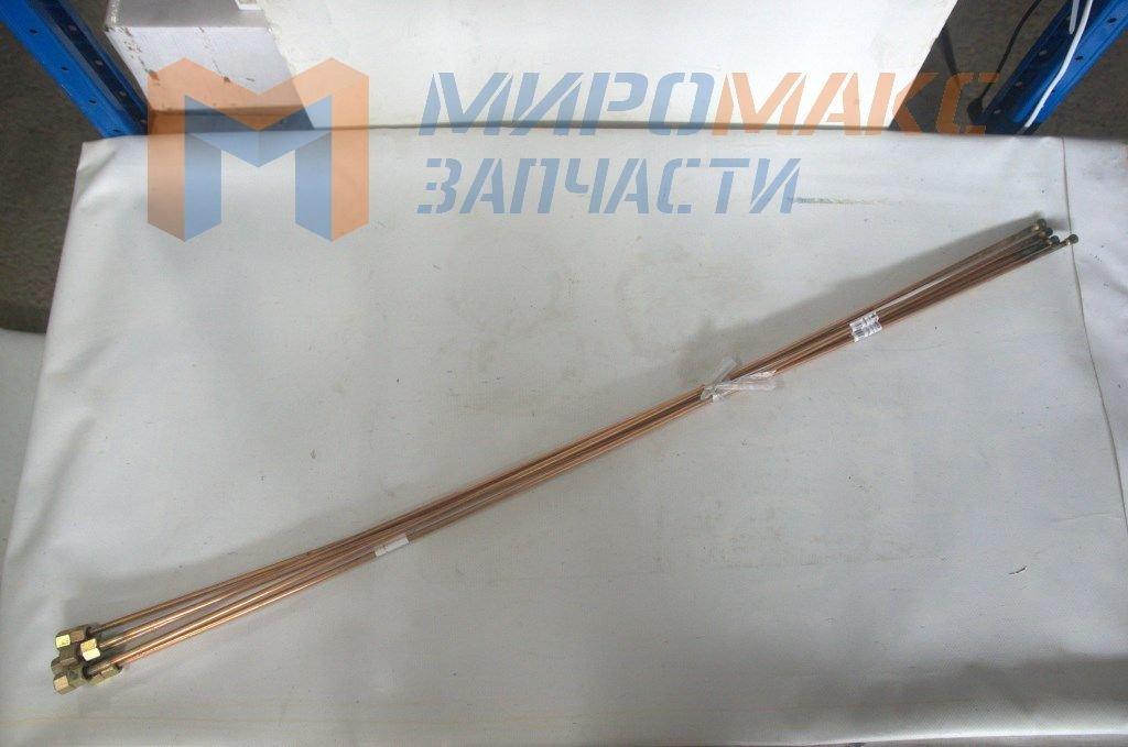 Трубка тормозная медная, под гайки 14мм, L=101cm