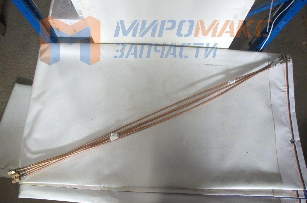 Трубка тормозная медная, под гайки 14мм, L=121cm