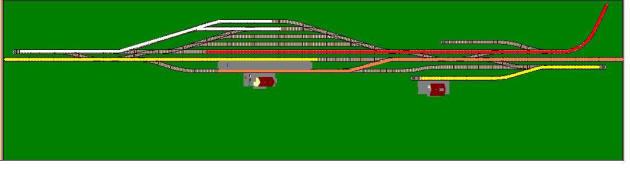 Пример параллельных операций, выполняемых на промежуточной станции