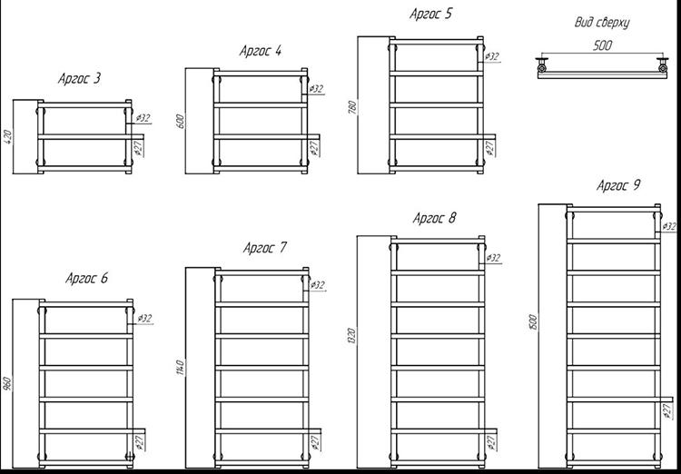 Дизайн ― радиаторы Аргос (полотенцесушители)