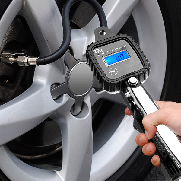 Digital car tire inflator thule towbar rack