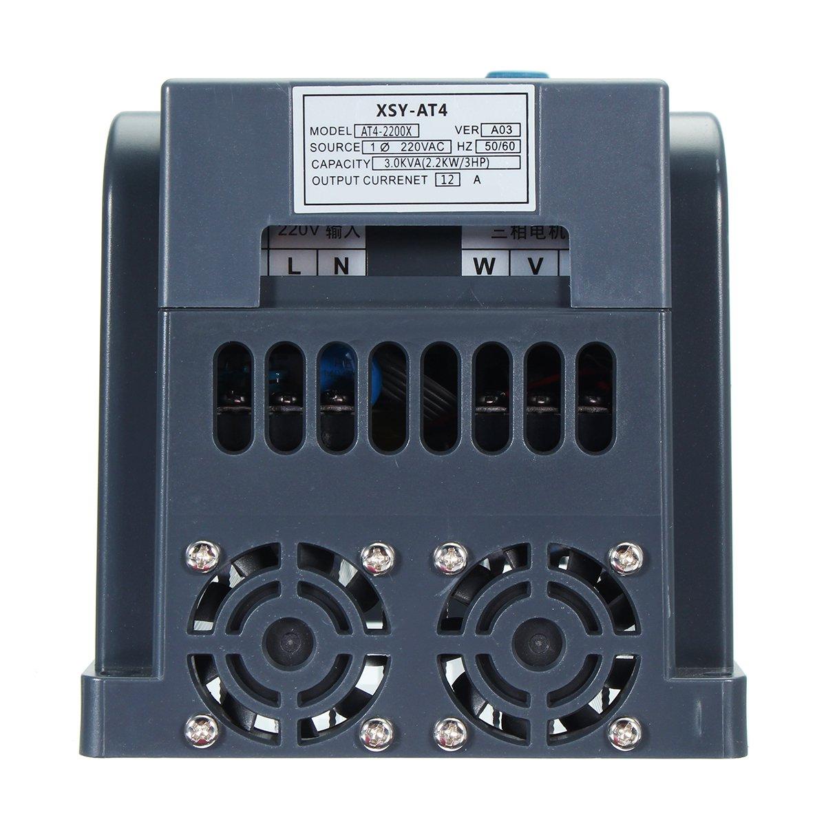 2.2KW 12A 220V 1PH В 3PH Вне 380V Преобразователь частоты Преобразователь Инвертор V / F Векторное управление - фото 2.2KW Frequency Converter