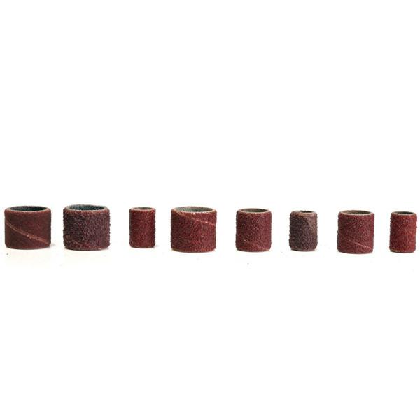 338pcs 3/8 1/4 1/2 шлифовальные ленты барабаны гильз 60 120 320 зернистости шлифовального барабана