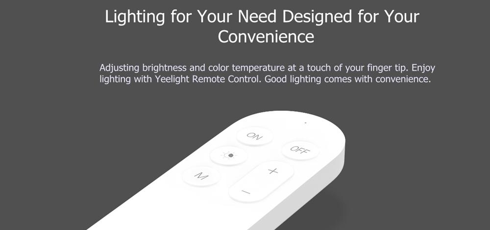 Yeelight Дистанционное Управление Передатчик для потолочного освещения Smart LED Лампа (продукт Xiaomi Ecosystem) - фото 3