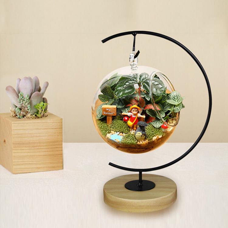 С-образный микро пейзаж стеклянный шар железный поддержки стойку