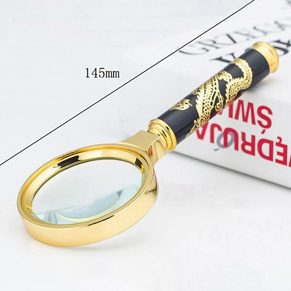 HD 8X Тисненый Дракон Ручка Увеличительное Overgild Очки Складное чтение Очки - фото 1