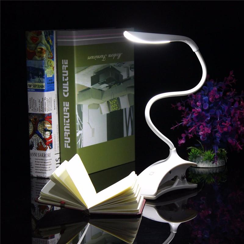 Dimmable USB аккумуляторная Touch Датчик LED Зажим для столового стола Лампа - фото 1