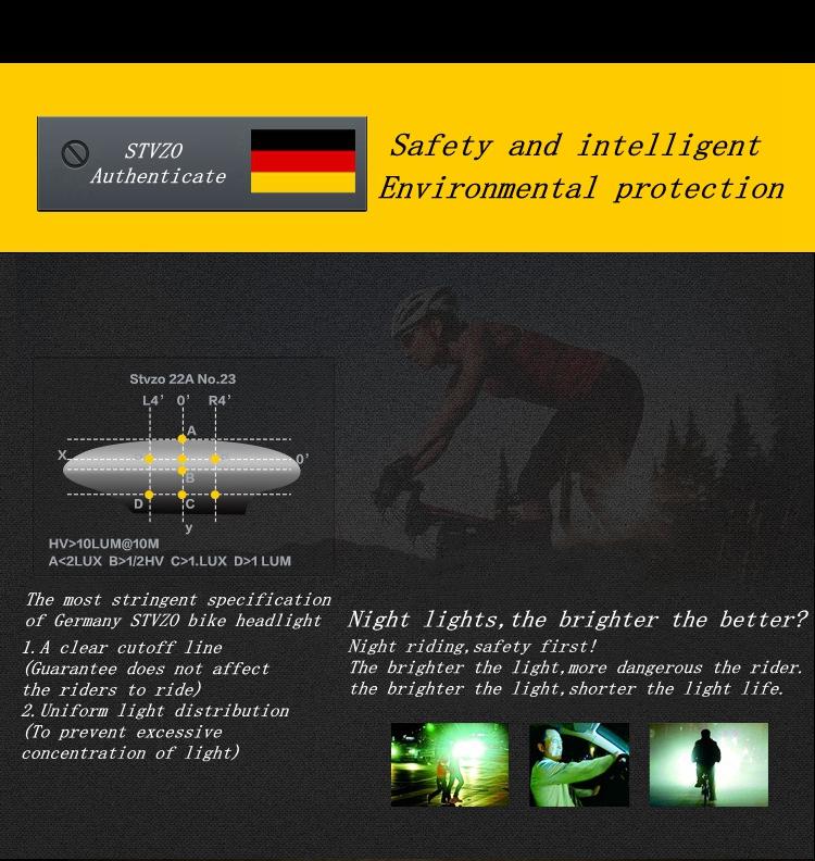 XANES STL02 Smart Bike Tail Light USB Зарядное устройство LED MTB Круглый задний фонарь безопасности - фото 5
