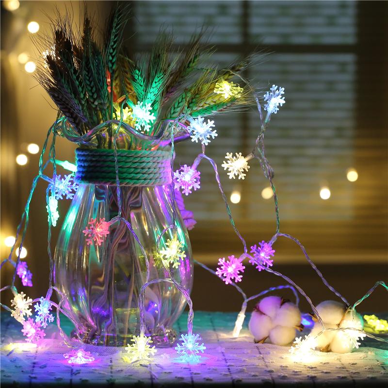 9,5M 75LEDs 8 режимов Многоцветный снежинка Fairy String Light для Рождества AC220V - фото 8