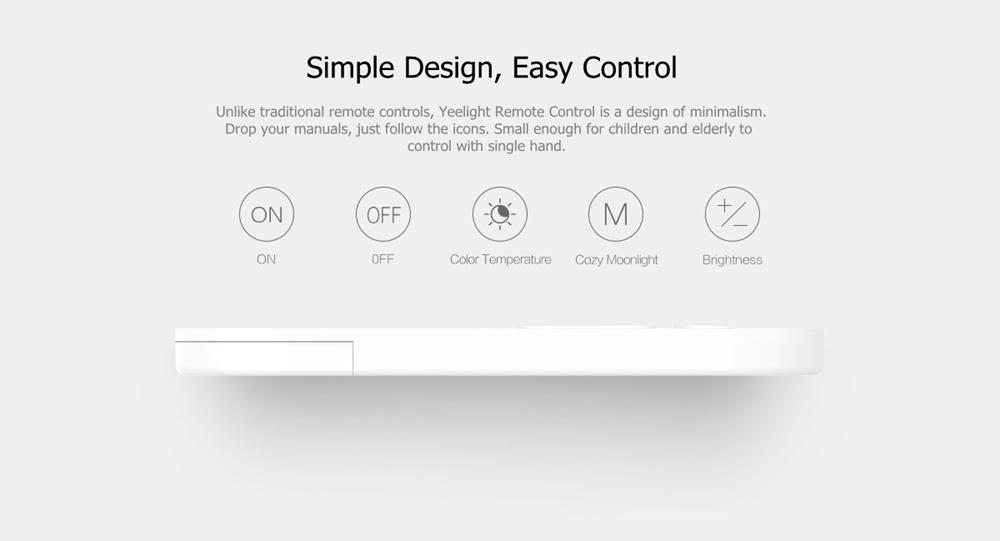 Yeelight Дистанционное Управление Передатчик для потолочного освещения Smart LED Лампа (продукт Xiaomi Ecosystem) - фото 4
