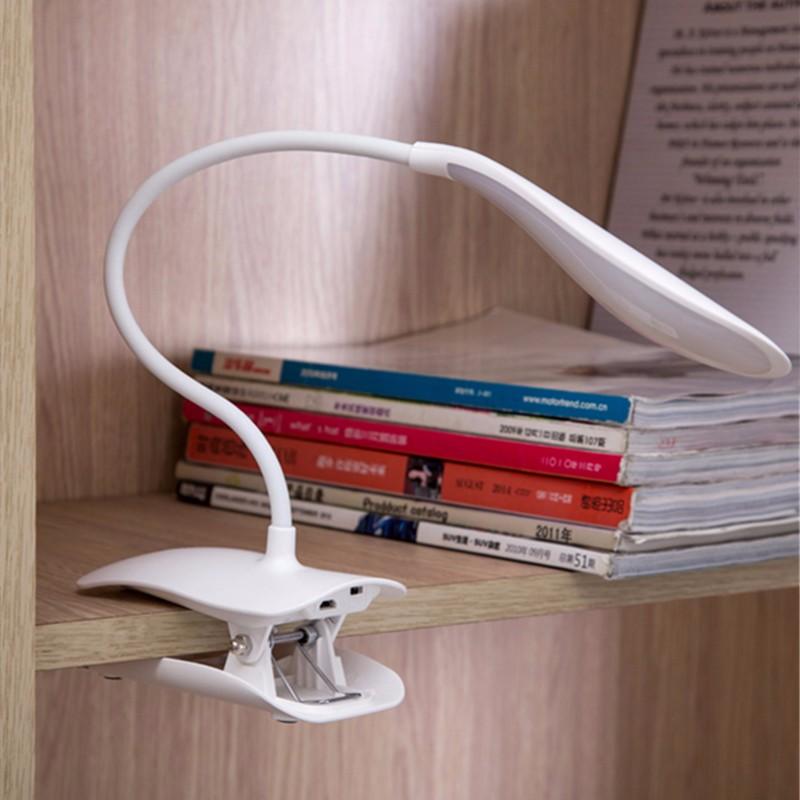 Dimmable USB аккумуляторная Touch Датчик LED Зажим для столового стола Лампа - фото 5