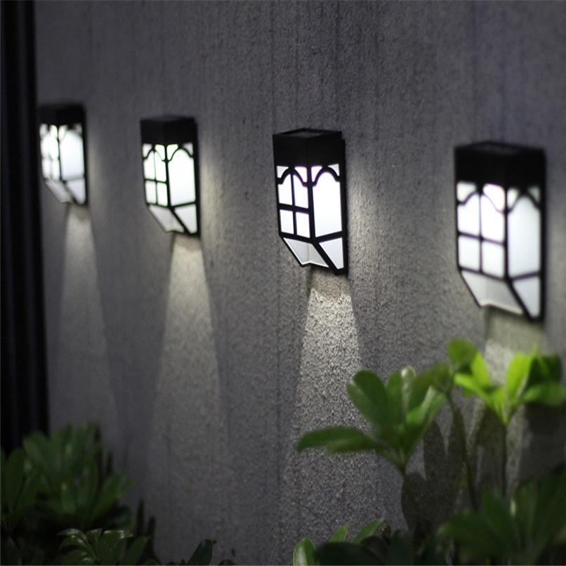 НаоткрытомвоздухеСолнечнаяСадСвет LED Путь стены Пейзаж Mount Light Забор Фонарь Street Лампа - фото 9