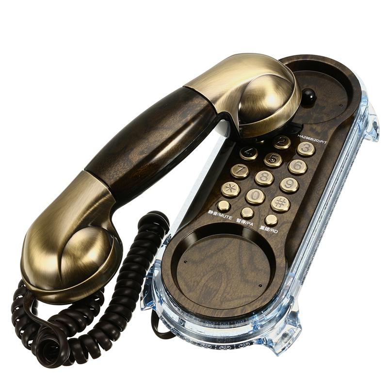 Настенный телефон с кабельным телефоном стационарные антикварные радиотелефоны для домашнего офиса - фото 7