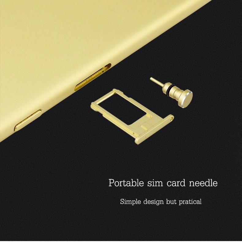 2-in-1 Dust Plug Earphone Port Sim Card Tray Eject Pin Needle For iPhone 6 Android Smartphone