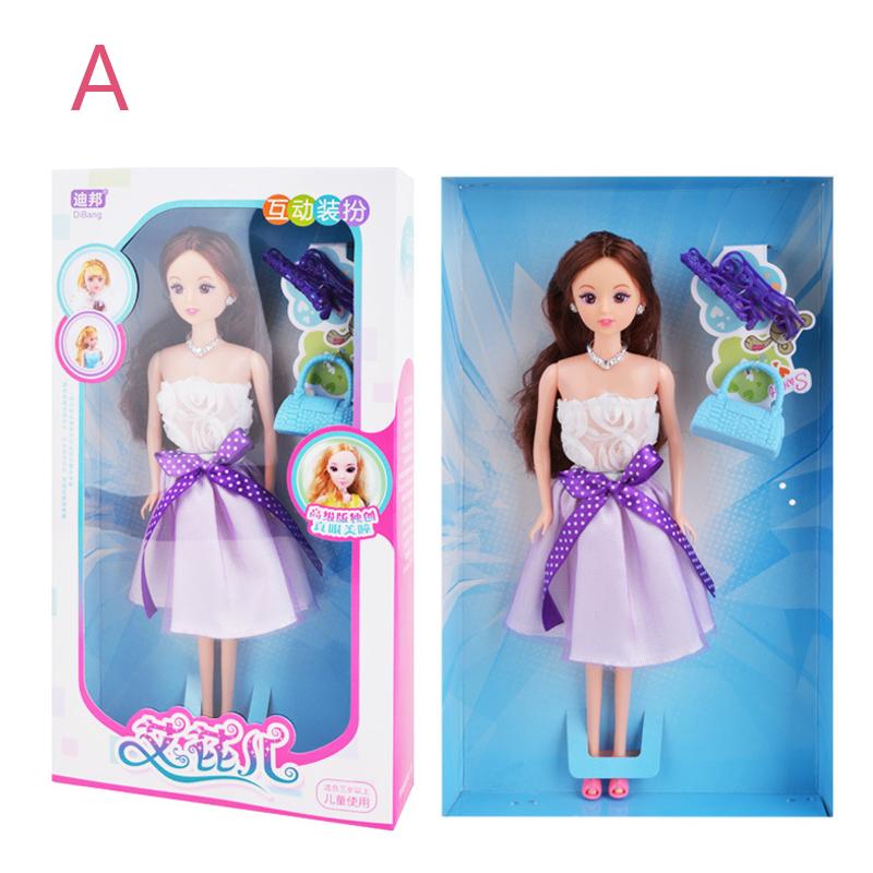 Кукла Платье Up Princess Свадебное Пластиковый подарок высокого конца Коробка Куклаs Action Figure - фото 5