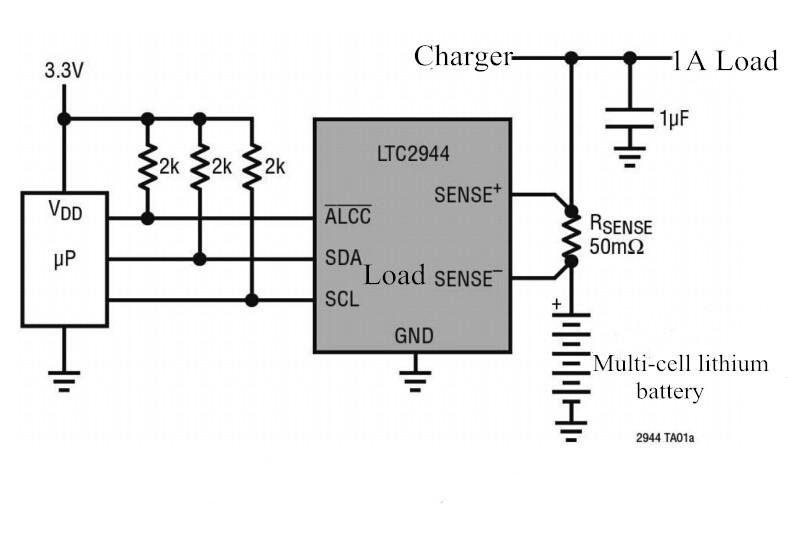 3шт CJMCU-294 LTC2944 Батарея Модуль измерения температуры 60 В измеритель напряжения и тока - фото 1