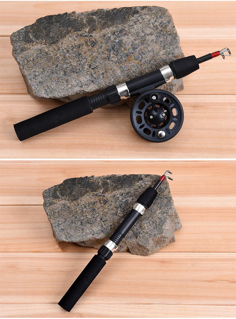 LEO62/65CMСтекловолоконныйтелескопический Рыбалка Род-катушка Combo Mini Pocket Рыбалка Rod Задавать - фото 5