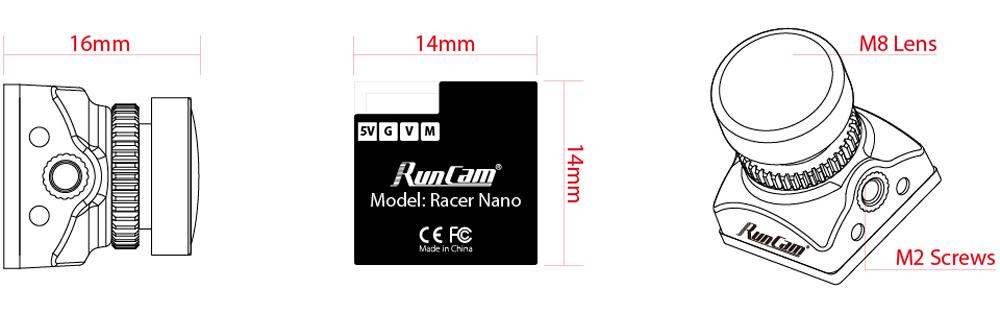 Runcam Гонщик Nano CMOS 700TVL 1,8 мм / 2,1 мм Супер WDR Самый маленький FPV камера 6 мс Управление жестами с низкой зад - фото 0f97f953-1f98-4155-b698-3832cc191c60.jpg