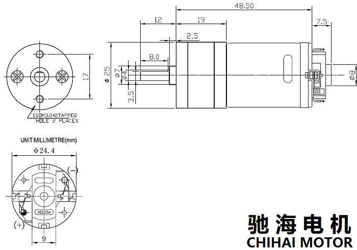 CHIHAIMOTORDC12V2000rpmВысокоскоростное сокращение Мотор