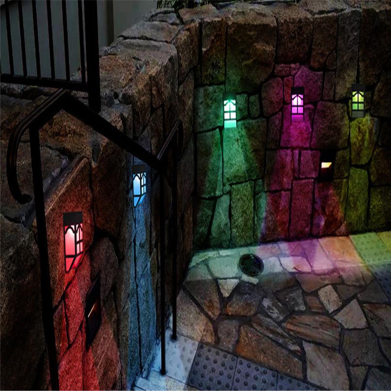 НаоткрытомвоздухеСолнечнаяСадСвет LED Путь стены Пейзаж Mount Light Забор Фонарь Street Лампа - фото 8