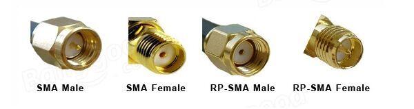 6PCS FPV Удлинительный кабель 5 см SMA Мужской к SMA Женский Прямоугольный кабель - фото 5